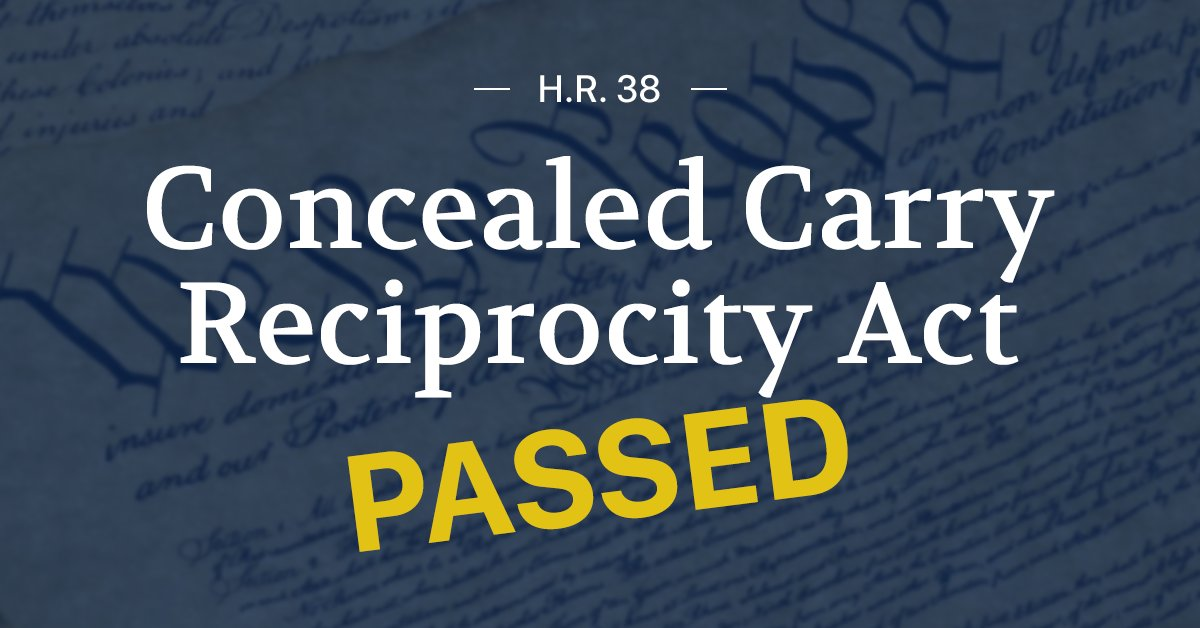 Walorski Votes For National Concealed Carry Reciprocity