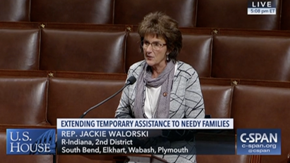 Walorski Applauds House Passage of TANF Extension