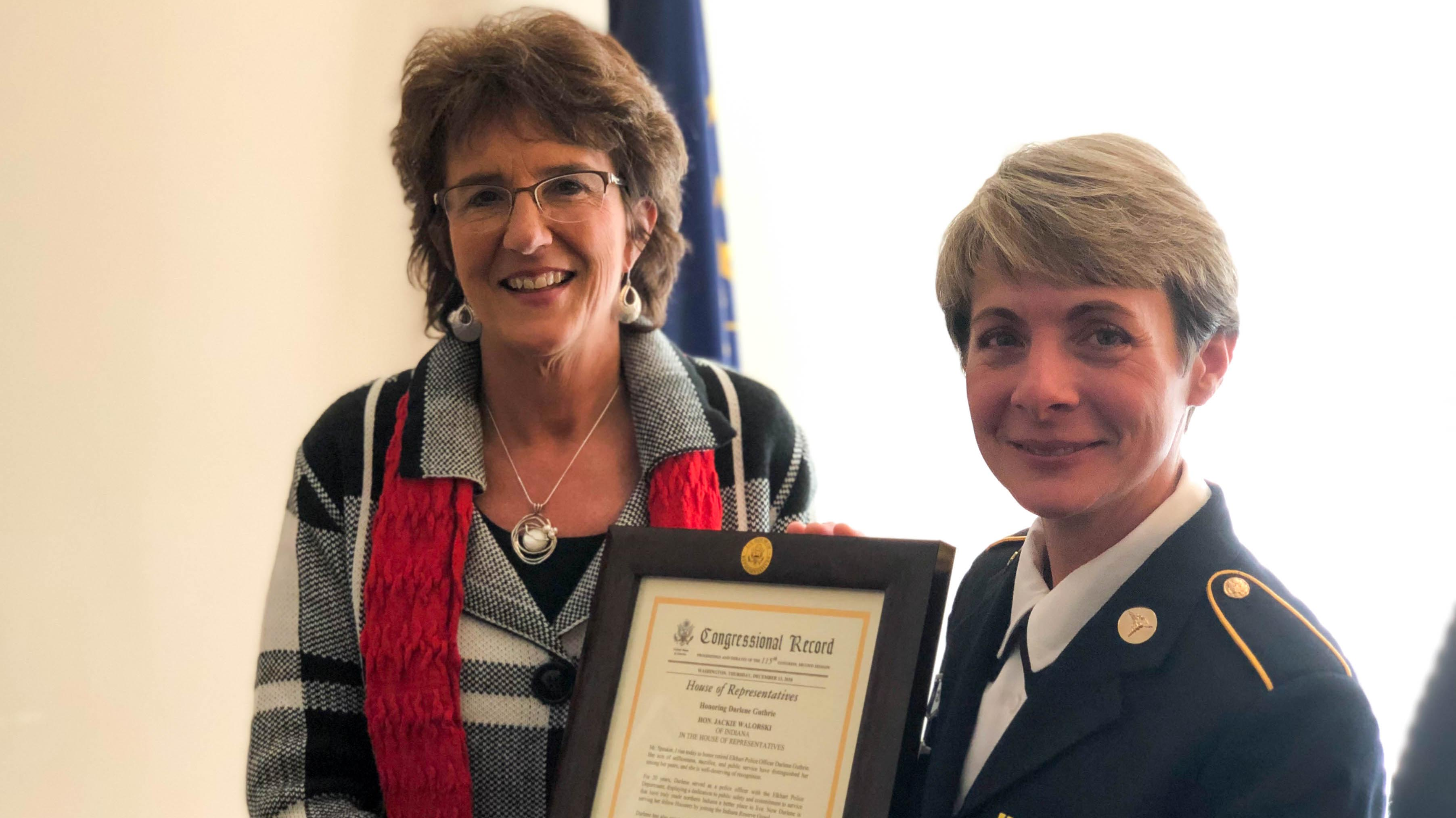 "Walorski Honors Former Police Officer Darlene Guthrie as ""Hoosier Hero"""