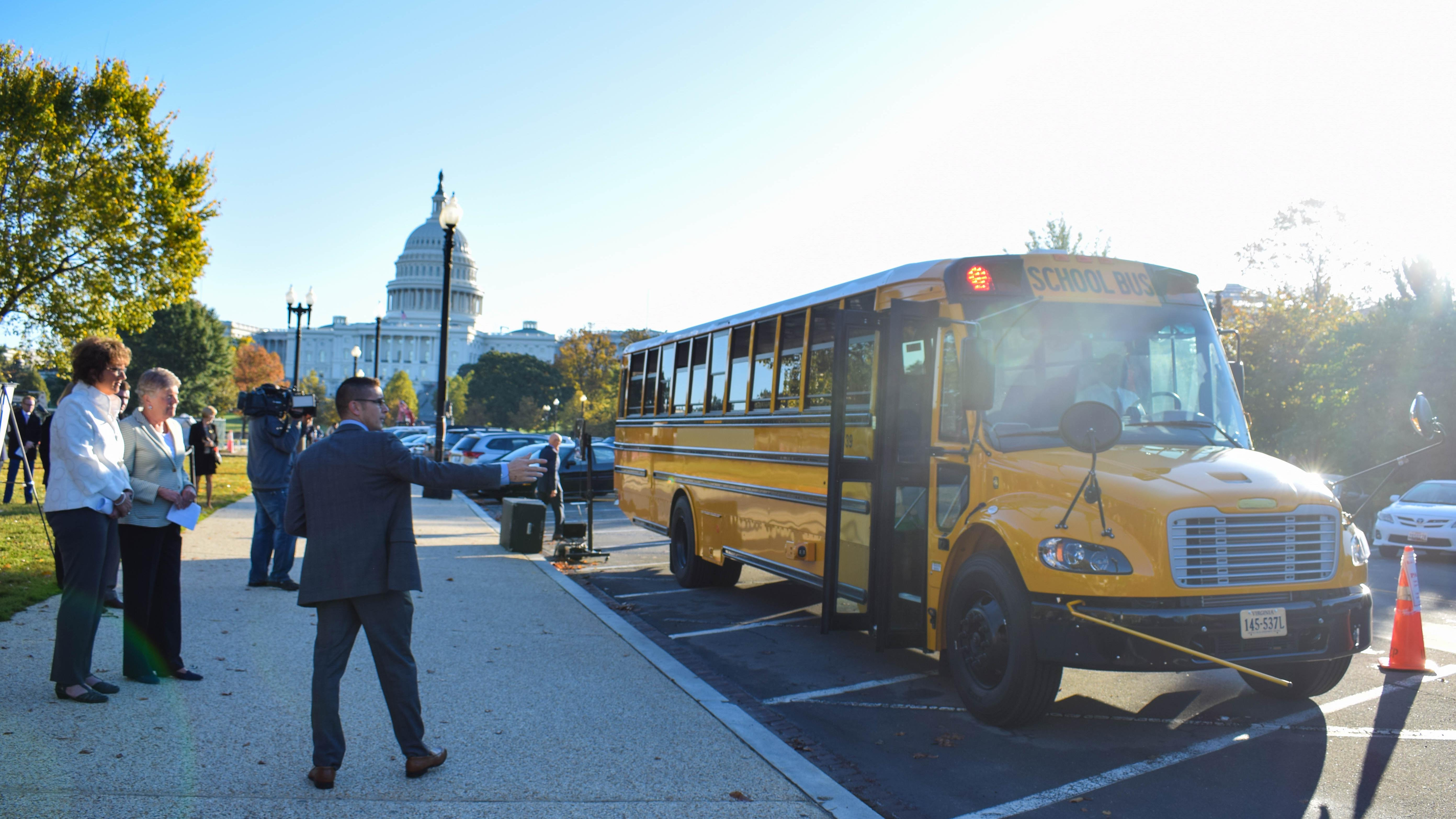 Walorski Joins Sponsors of STOP for School Buses Act to View Demo of Bus Safety Technology 4
